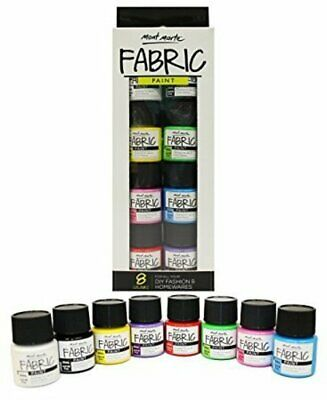 Mont Marte Paint Set - Fabric Paint 8pc x 20ml