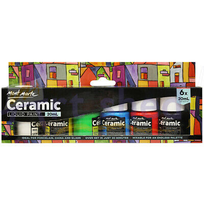 Mont Marte Paint Set - Ceramic Paint 6pc x 20ml