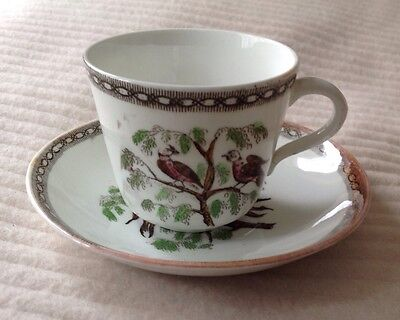 EARLY 18/19th? CENTURY TEACUP AND SAUCER