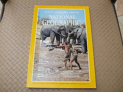 NATIONAL GEOGRAPHIC - FEBRUARY 1984  - Vol 165 n° 2 (en Anglais)
