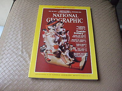 NATIONAL GEOGRAPHIC - November 1982 - Vol 162  n° 5 (en Anglais)