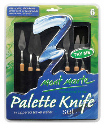 Mont Marte Palette Knife Set In Wallet 6pc