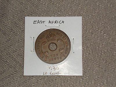 1936 East Africa 10 cent coin East African ten cents