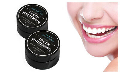 2 Pc 100% Organic Coconut Activated Charcoal Natural Teeth Whitening Powder