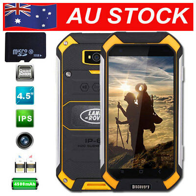 32GB Unlocked 3G Smartphone Land V19 Rover Android Rugged Mobile Dual SIM Yellow