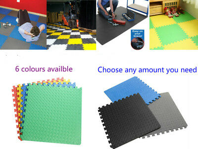 60cm*60cm  LARGE INTERLOCKING EVA FOAM MATS TILES GYM PLAY WORKSHOP FLOOR MAT