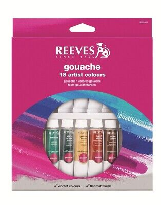 Reeves Paint Set - Gouache 18 x 10ml