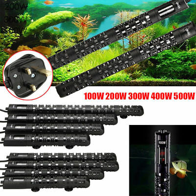 Submersible Aquarium Water Heater Fish Tank Thermostat 100W 200W 300W 400W 500W