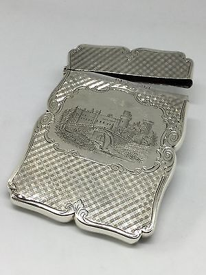 Solid Silver Castle Top Card Case - Nathaniel Mills