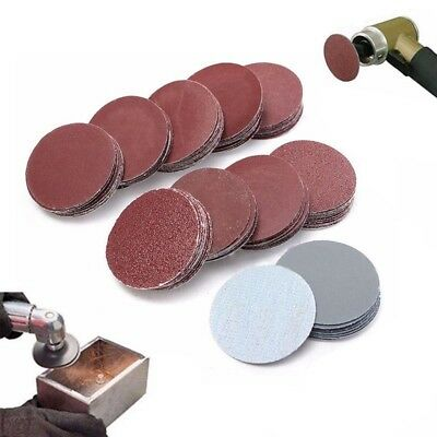 100pcs 2inch 50mm Sander Disc 80~3000 Grit Sanding Sheet Polishing Pad Sandpaper