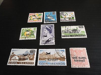 Cook Islands Sg 185-193 Air Used