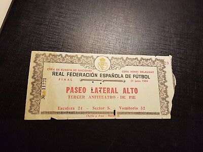 VERY RARE 1964 EUROPEAN CUP NATIONS FINAL SPAIN v  SOVIET UNION RUSSIA URSS