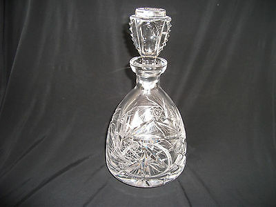 Heavy Glass Decanter (possibly Cut Glass) – Ref 1269
