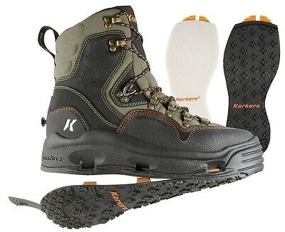 Korkers K-5 Bomber Wading boots w/Felt and Kling-On soles,Size 9 - CLOSEOUT