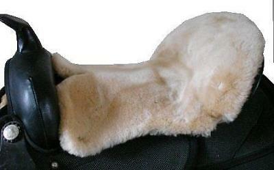 WESTERN ENDURANCE Saddle Seat Saver Cushion Merino Sheepskin BLACK BROWN RED