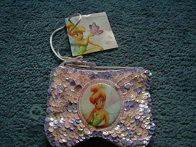 Disney Store Tinkerbell Pink & Lilac Sequinned Purse BRAND NEW VERY RARE!