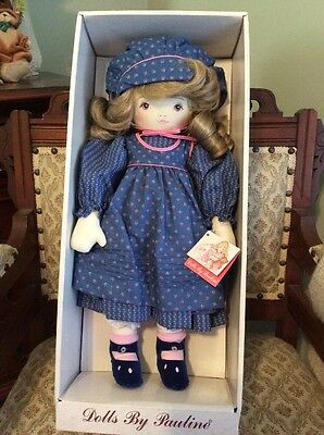 New in Box Vintage All Cloth Doll By Dolls By Pauline Bjonness AMY 902281 1985