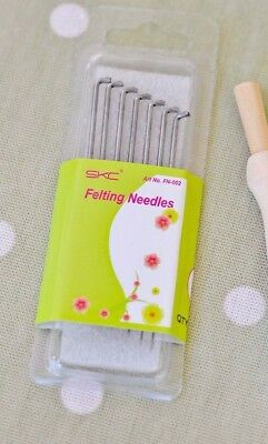 One box of 7 Wool Felting Needles Fine/Medium 38G 40G Tools Crafts Hobby DIY