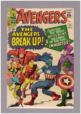 Avengers # 10  The Villainy of the Evil Immortus !  grade 5.5 scarce book !
