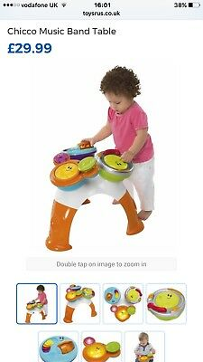 Chicco Music Band Drum Table Children's Toy