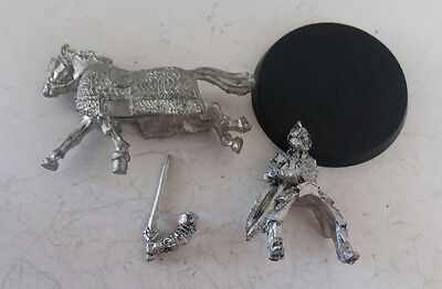 games workshop  Lord of the rings metal king theoden mounted