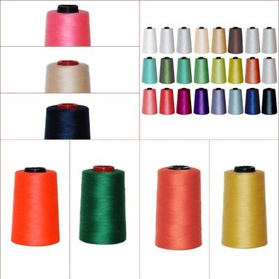 4 X 5000 YRDS TOP QUALITY SEWING THREAD 120s SPUN POLYESTER, OVERLOCKING