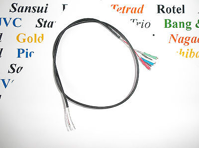 Tonearm wire, shielded,  400 mm for 1.1 - 1.2 MM cartridge pins, rewire kit