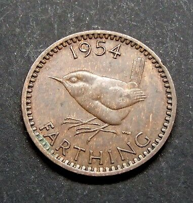 1954 Great Britain English Wren Farthing - Elizabeth II - 759