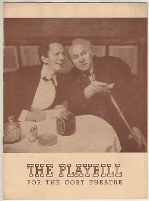 "Morris Carnovsky & Sam Jaffe   Playbill   ""Cafe Crown""   1942"