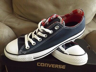 b6858b2b598b Converse CT All Star Double Tongue OX Women s Shoes Navy White Casino  556678F