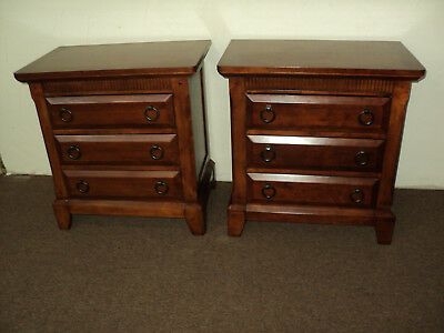 Pair of Contemporary Style Cherry Nightstands by Davis Int'l