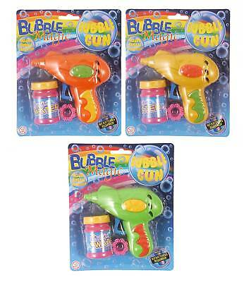 Job Lot of 72 BUBBLE GUN with BUBBLES Wholesale Bulk Buy FRICTION TOY Assorted