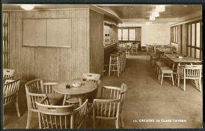 """""""ORCADES"""" (1948-72) Orient Line. 1st CLASS TAVERN. On-board official 1948 RP"""