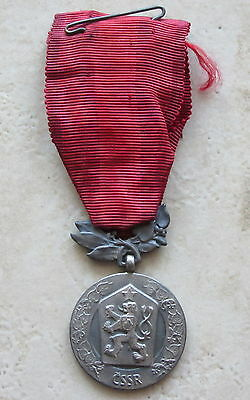 Czechoslovakia Army Medal: For Merits In Country Defence, Silver