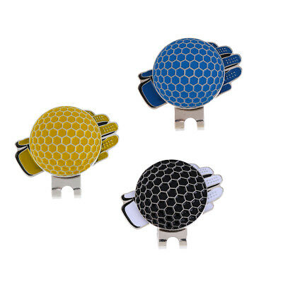 3Pcs Golf Ball Marker with Magnetic Hat Clip Golf Glove Golfer Gifts