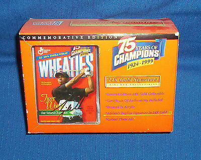 Wheaties Mini BoxTiger Woods 24K Gold Signature Commemorative New in Box