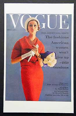 POSTCARDS FROM VOGUE - February 1, 1959 - Cover Postcard - NEW