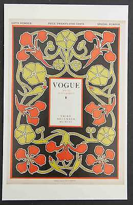 POSTCARDS FROM VOGUE - December 3, 1903 - Cover Postcard - NEW