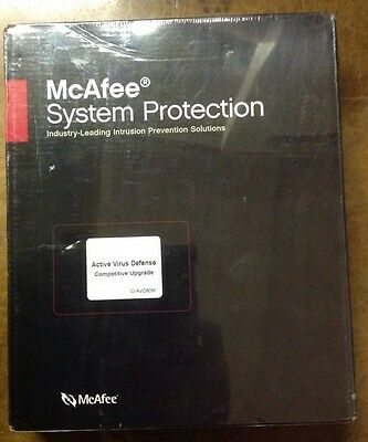 MCAFEE Active Virus Defense For Windows System Protection NEW