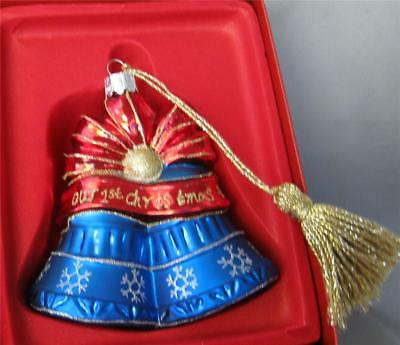 Waterford Marquis Christmas Glass Bell Ornament Our First Christmas