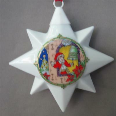 Hutschenreuther 1997 Christmas Porcelain Star Ornament Ole Winther Germany