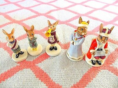 Royal Doulton 'bunnykins Figurine Set - Royal Family - Rarre & Very Collectable!