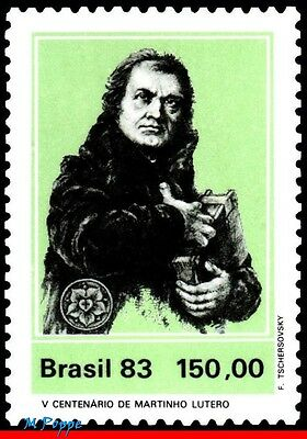 1850 Brazil 1983 Martin Luther, Protestant, Religion, Famous People,mi# 1955,mnh