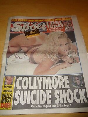 Daily  Sport January 10Th  2000 Collymore Suicide  Shock