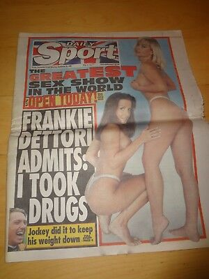 Daily  Sport September 24Th-25Th 1999 Frankie Dettori Admits Taking Drugs