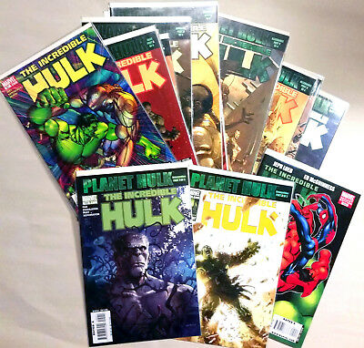 THE INCREDIBLE HULK PLANET HULK Lot of 15 Comics Including #600 with Spider-Man