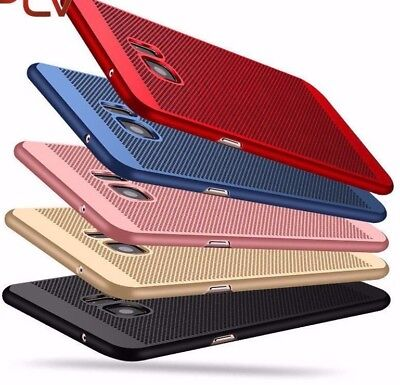 Samsung S6 S7 S8 Breathable UltraThin Hard Back Case Cover Mesh Protector