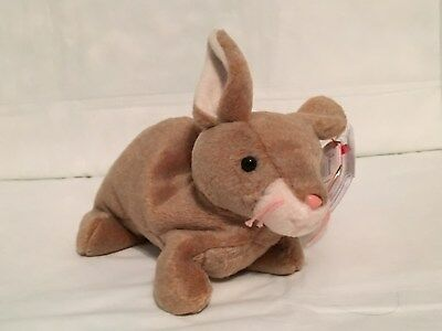 TY Beanie Baby - NIBBLY the Rabbit - With Tags - RETIRED
