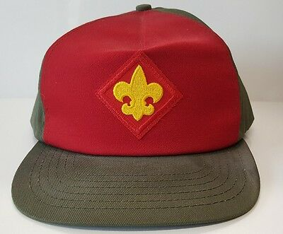 Vintage BSA Boy Scouts Adjustable Baseball Hat Twill Cap M/L USA Made Snapback