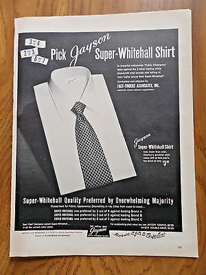 1951 Jayson Shirts Ad  Super-Whitehall Shirt